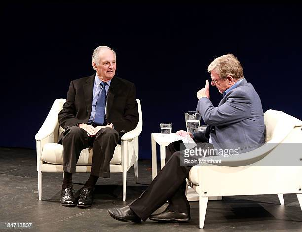 Actor Alan Alda and Jeff Greenfield attend Iconic Characters Of Comedy Series 'MASH' at Museum of Moving Image on October 15 2013 in New York City