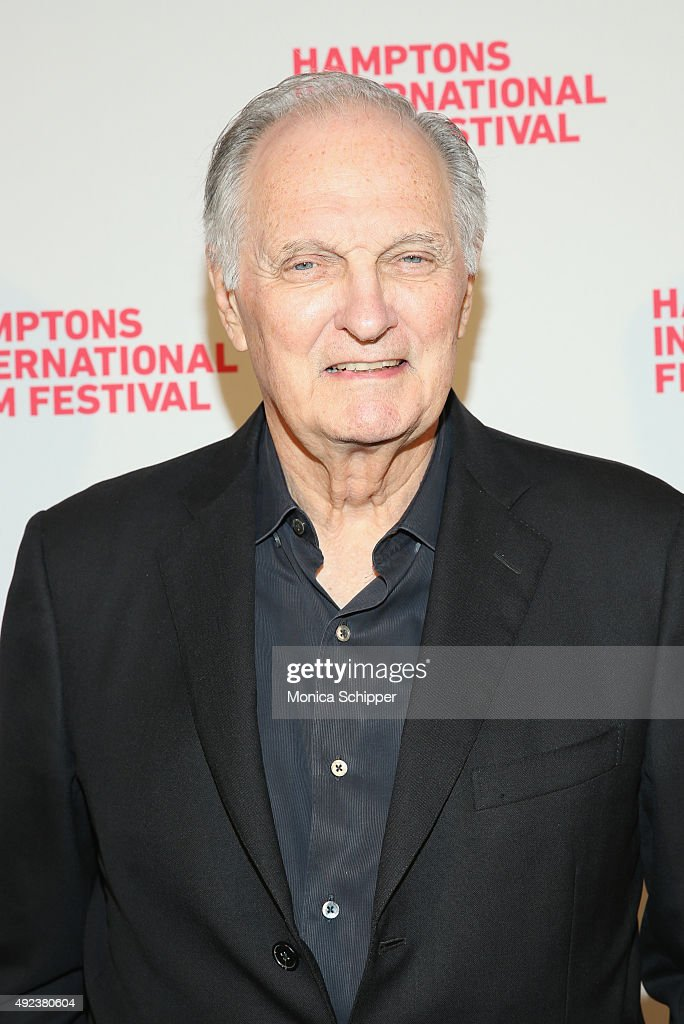 Actor Alan Alda attend the Bridge Of Spies photo call Day 5 of the 23rd Annual Hamptons International Film Festival on October 12 2015 in East...