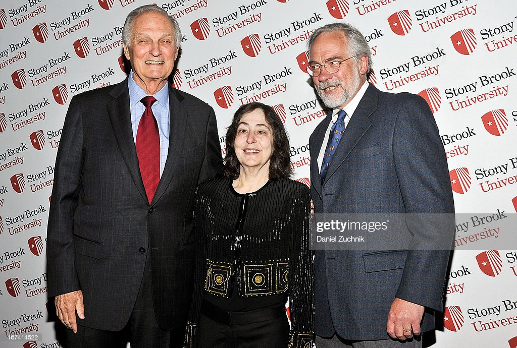 Actor Alan Alda(L) attends the 2013 Stars Of Stony Brook Gala at Pier 60 on April 24, 2013 in New York City.