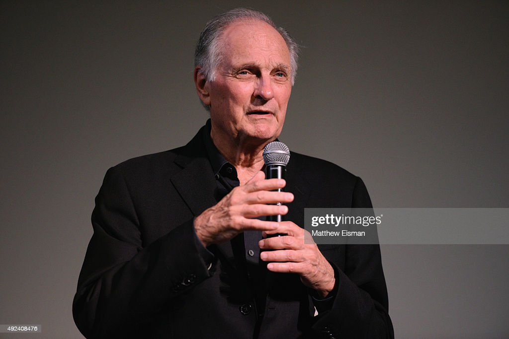 Actor Alan Alda speaks during 'Bridge Of Spies' QA on Day 5 of the 23rd Annual Hamptons International Film Festival on October 12 2015 in East...