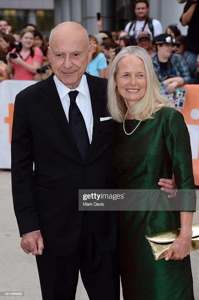 Actor <a gi-track='captionPersonalityLinkClicked' href=/galleries/search?phrase=Alan+Arkin&family=editorial&specificpeople=681109 ng-click='$event.stopPropagation()'>Alan Arkin</a> (L) and Suzanne Newlander Arkin attend the 'Argo' premiere during the 2012 Toronto International Film Festival at Roy Thomson Hall on September 7, 2012 in Toronto, Canada.