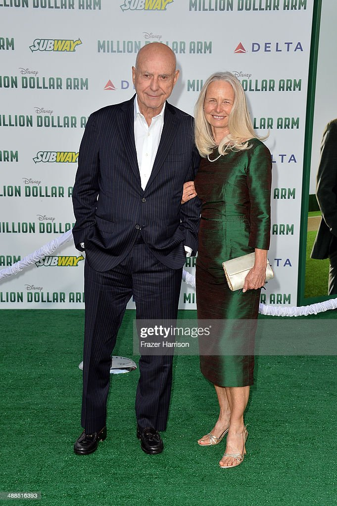 Actor Alan Arkin and Suzanne Newlander attend the premiere of Disney's 'Million Dollar Arm' at the El Capitan Theatre on May 6, 2014 in Hollywood, California.