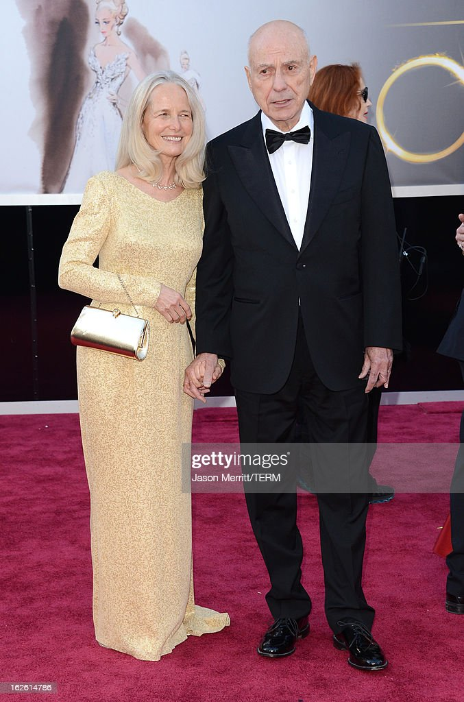 Actor Alan Arkin and wife Suzanne Arkin arrive at the Oscars at Hollywood Highland Center on February 24 2013 in Hollywood California