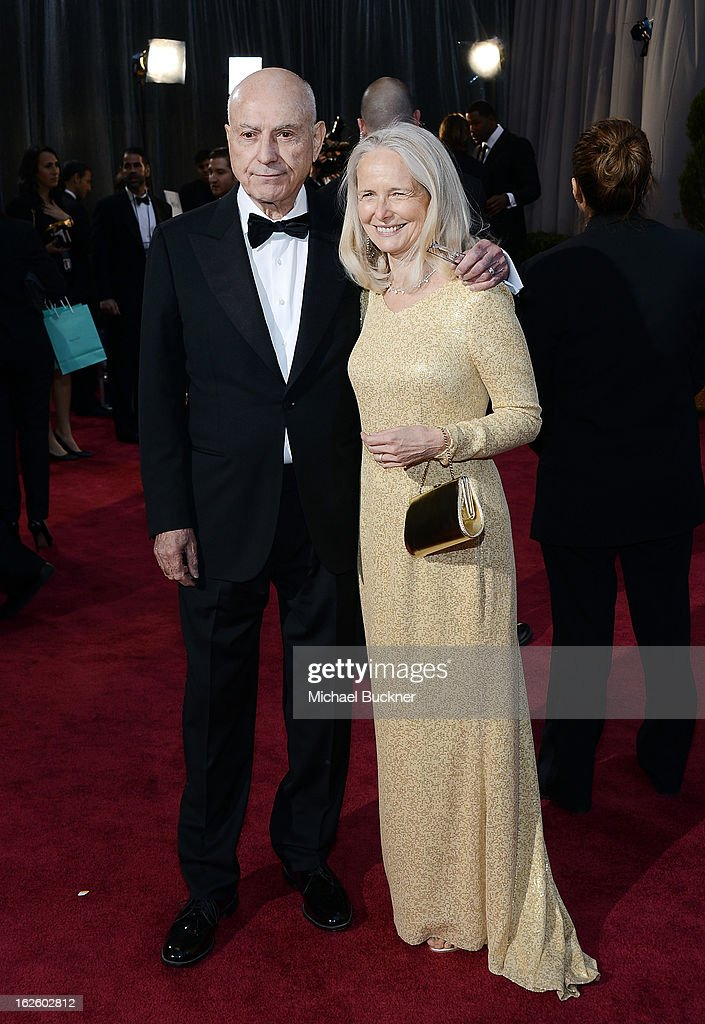 Actor Alan Arkin and wife Suzanne Newlander Arkin arrive at the Oscars at Hollywood Highland Center on February 24 2013 in Hollywood California