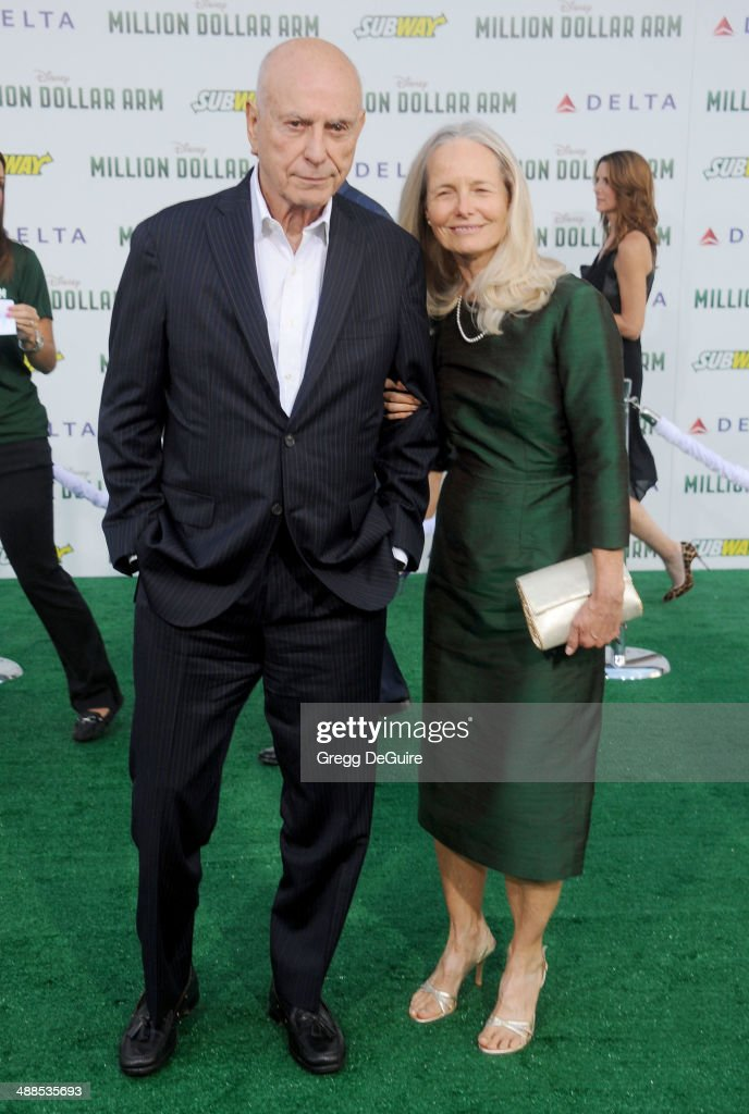 Actor Alan Arkin and wife Suzanne Newlander Arkin arrive at the Los Angeles premiere of 'Million Dollar Arm' at the El Capitan Theatre on May 6 2014...