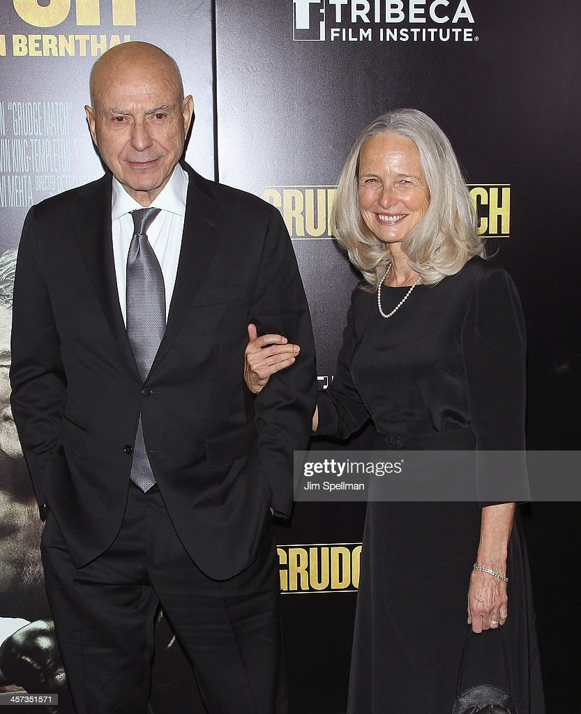 Actor Alan Arkin and wife Suzanne Newlander Arkin attends the 'Grudge Match' screening benifiting the Tribeca Film Insititute at Ziegfeld Theater on...