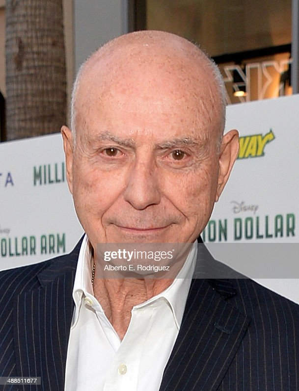 Actor Alan Arkin attends the premiere of Disney's 'Million Dollar Arm' at the El Capitan Theatre on May 6 2014 in Hollywood California