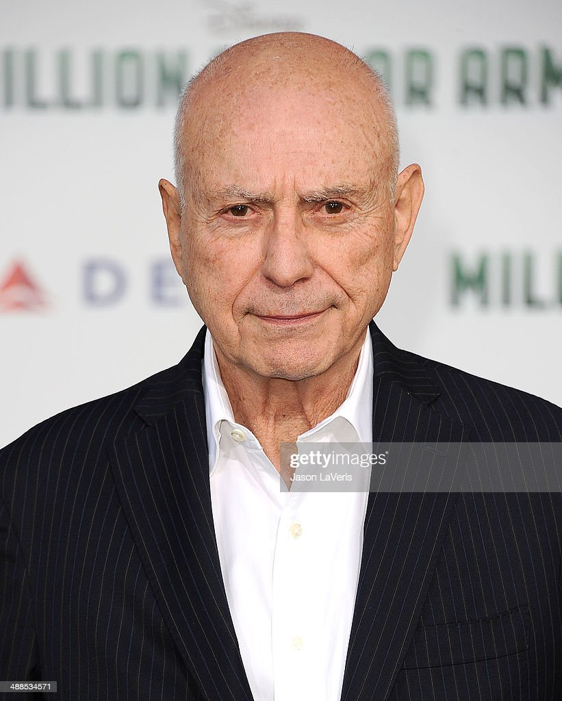 Actor Alan Arkin attends the premiere of 'Million Dollar Arm' at the El Capitan Theatre on May 6 2014 in Hollywood California