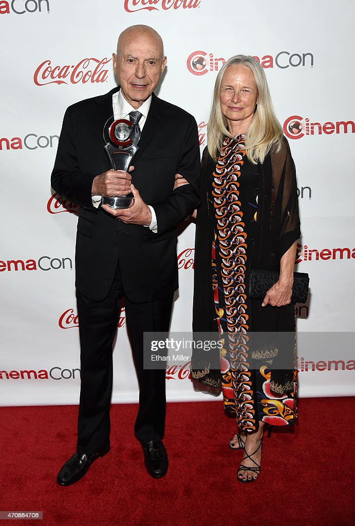 Actor Alan Arkin recipient of the Lifetime Achievement Award and his wife Suzanne Wewlander Arkin attend The CinemaCon Big Screen Achievement Awards...