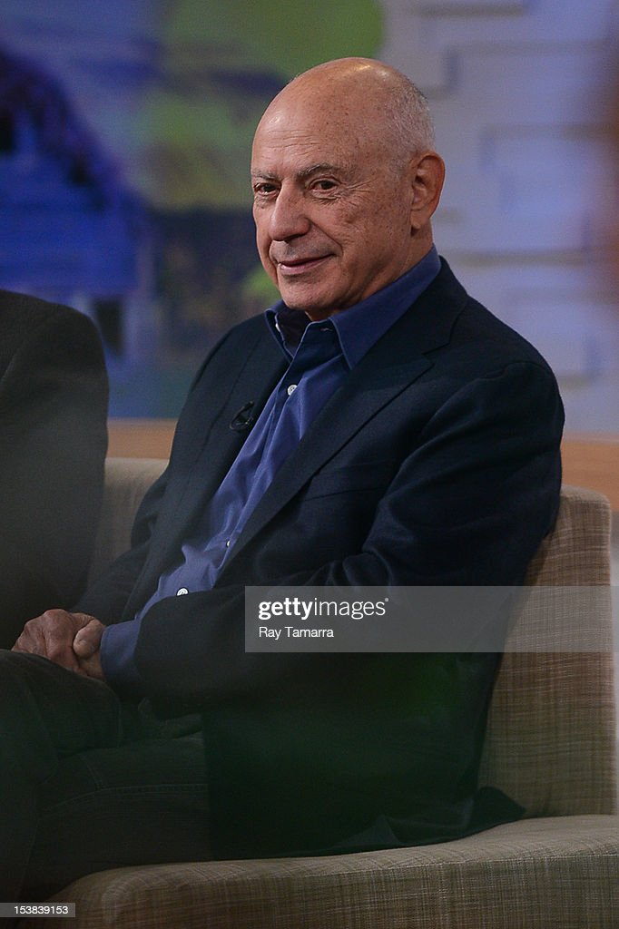 Actor Alan Arkin tapes an interview at 'Good Morning America' at the ABC Times Square Studios on October 9, 2012 in New York City.