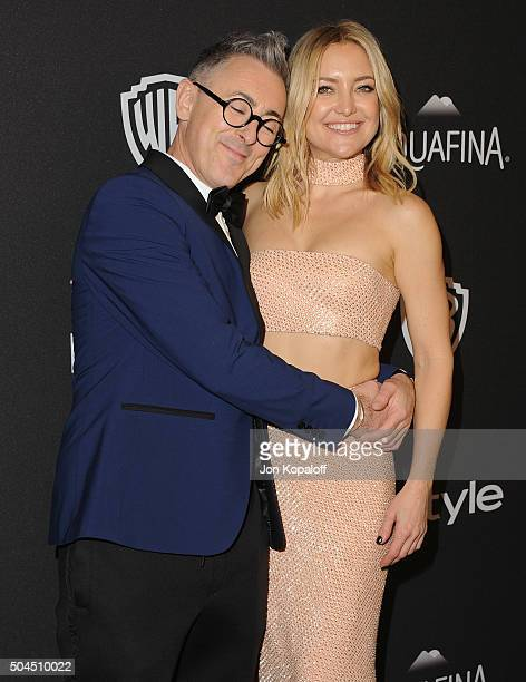 Actor Alan Cumming and actress Kate Hudson arrive at the 2016 InStyle And Warner Bros 73rd Annual Golden Globe Awards PostParty at The Beverly Hilton...