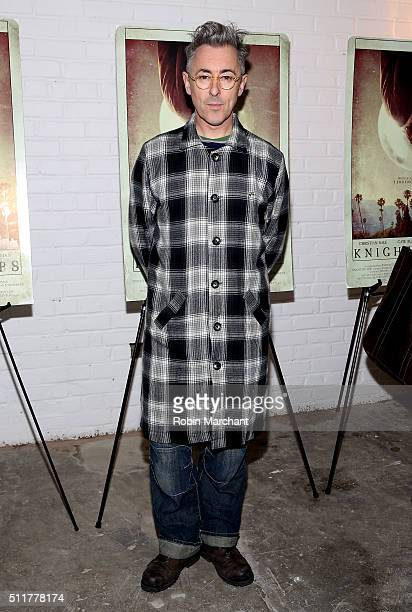 Actor Alan Cumming arrives at the 'Knight of Cups' New York screening held at Metrograph on February 22 2016 in New York City