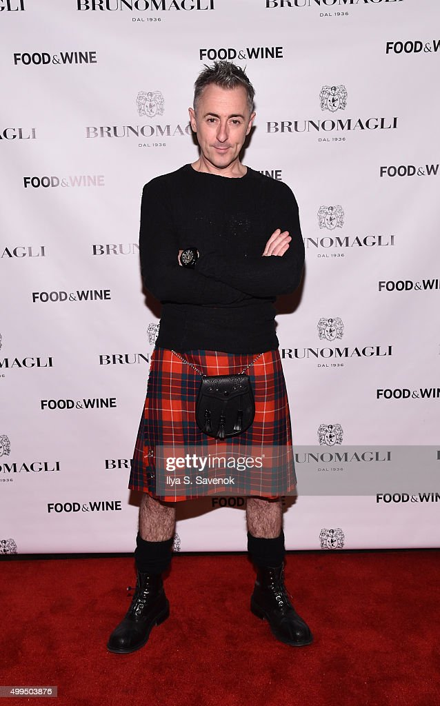 Actor Alan Cumming attends Bruno Magli Presents A Taste Of Italy CoHosted By Food Wine Scott Conant on December 1 2015 in New York City