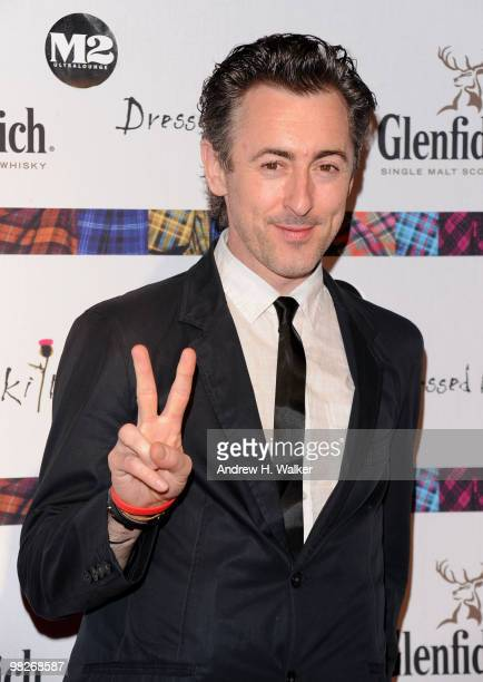 Actor Alan Cumming attends the 8th annual 'Dressed To Kilt' Charity Fashion Show presented by Glenfiddich at M2 Ultra Lounge on April 5 2010 in New...