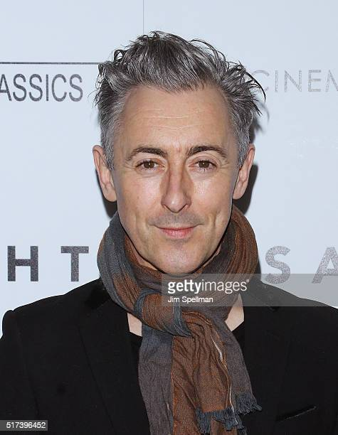 Actor Alan Cumming attends The Cinema Society with Hestia StGermain host a screening of Sony Pictures Classics' 'I Saw the Light' at Metrograph on...