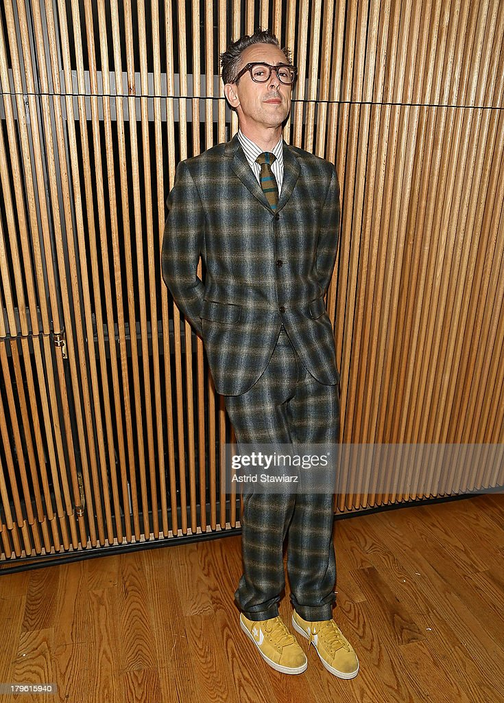 Actor Alan Cumming attends the David Hart fashion show during Mercedes-Benz Fashion Week Spring 2014 at the DiMenna Center on September 5, 2013 in New York City.
