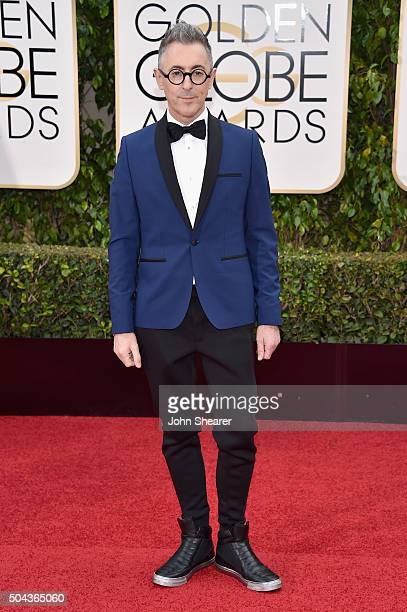 Actor Alan Cumming takes a photo at the 73rd Annual Golden Globe Awards held at the Beverly Hilton Hotel on January 10 2016 in Beverly Hills...