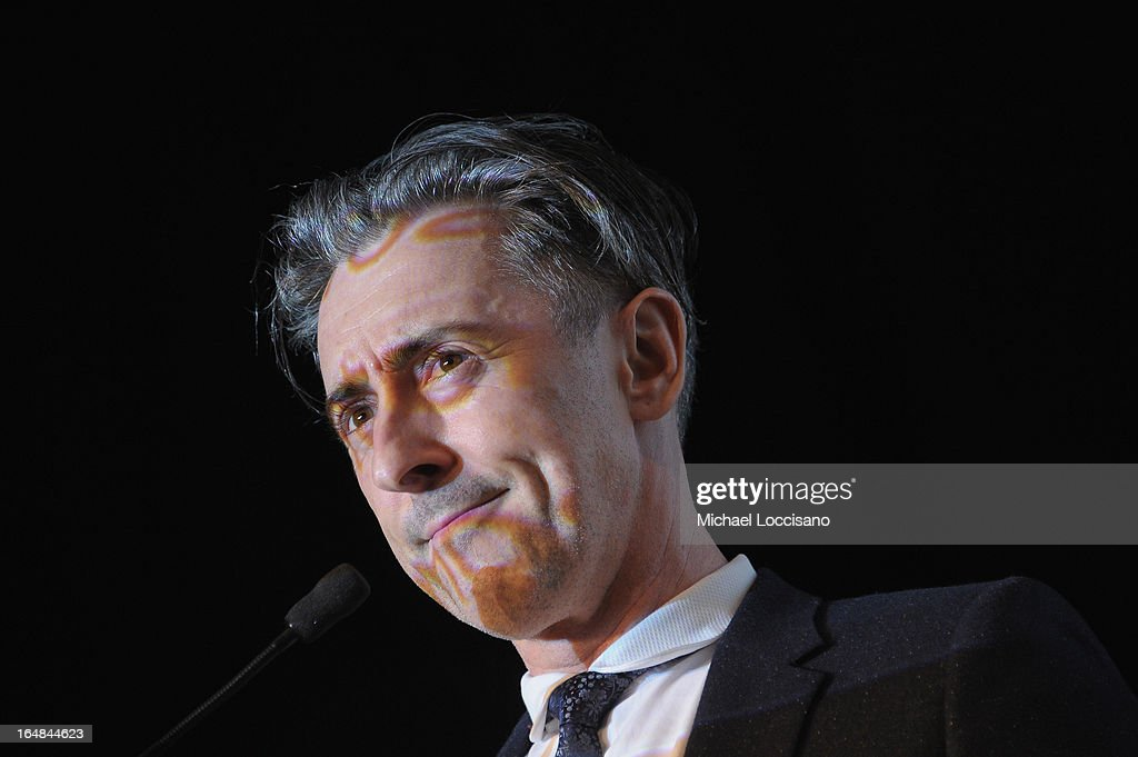 Actor Alan Cumming takes part in the auction during the Bailey House 30th Anniversary Gala at Pier 60 on March 28, 2013 in New York City.