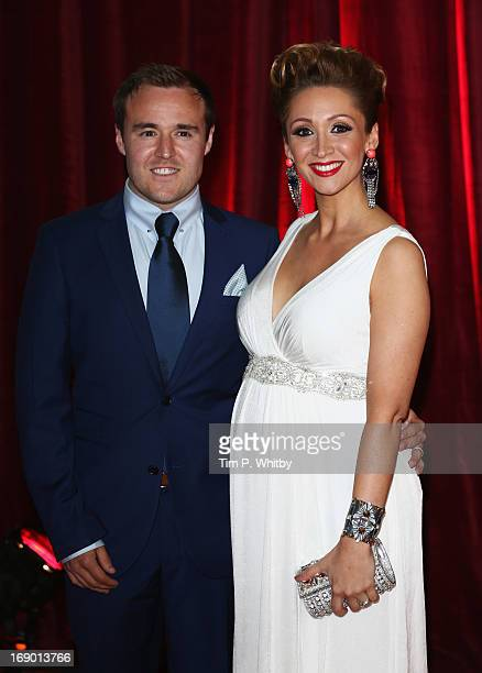 Actor Alan Halsall and wife LucyJo Hudson attend the British Soap Awards at Media City on May 18 2013 in Manchester England