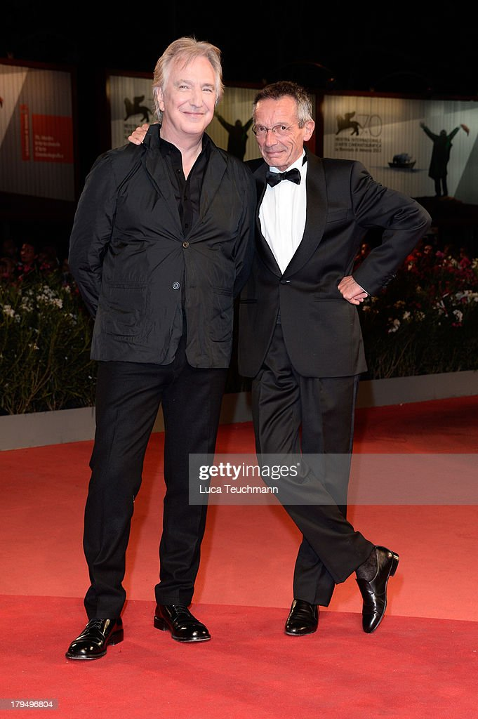 Actor Alan Rickman and director Patrice Leconte attend 'Une Promesse' Premiere during the 70th Venice International Film Festival at Sala Grande on...