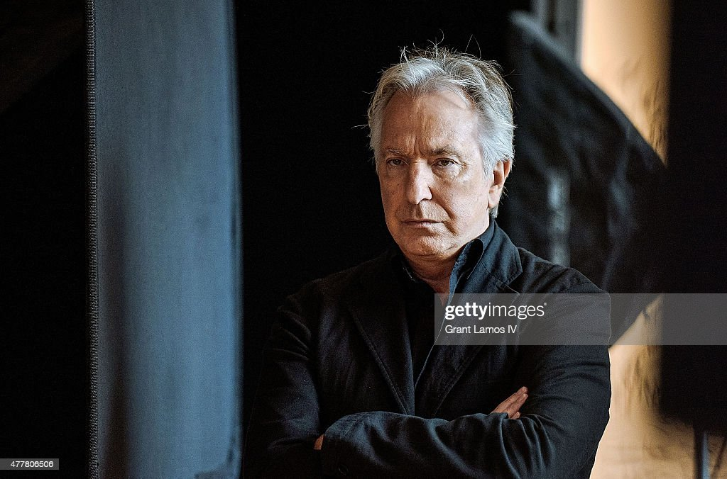 Actor Alan Rickman attends the AOL Build Speaker Series at AOL Studios In New York on June 19, 2015 in New York City.