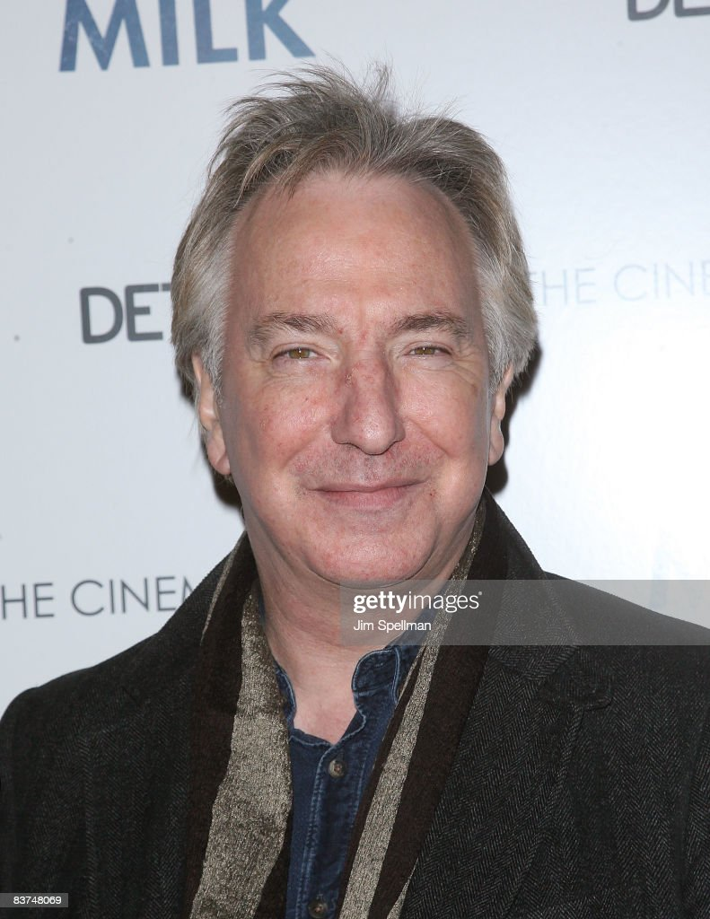 Actor Alan Rickman attends the Cinema Society and Details screening of 'Milk' at the Landmark Sunshine Theater on November 18, 2008 in New York City.