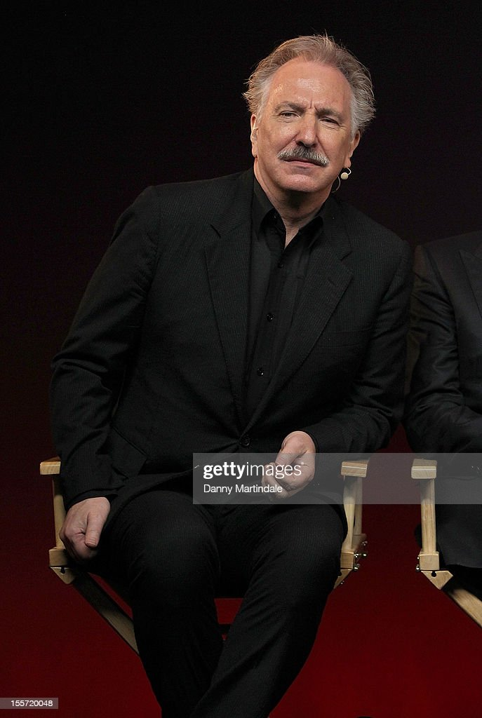 Actor Alan Rickman attends the Meet The Filmmakers event for Gambit at Apple Store Regent Street on November 7 2012 in London England