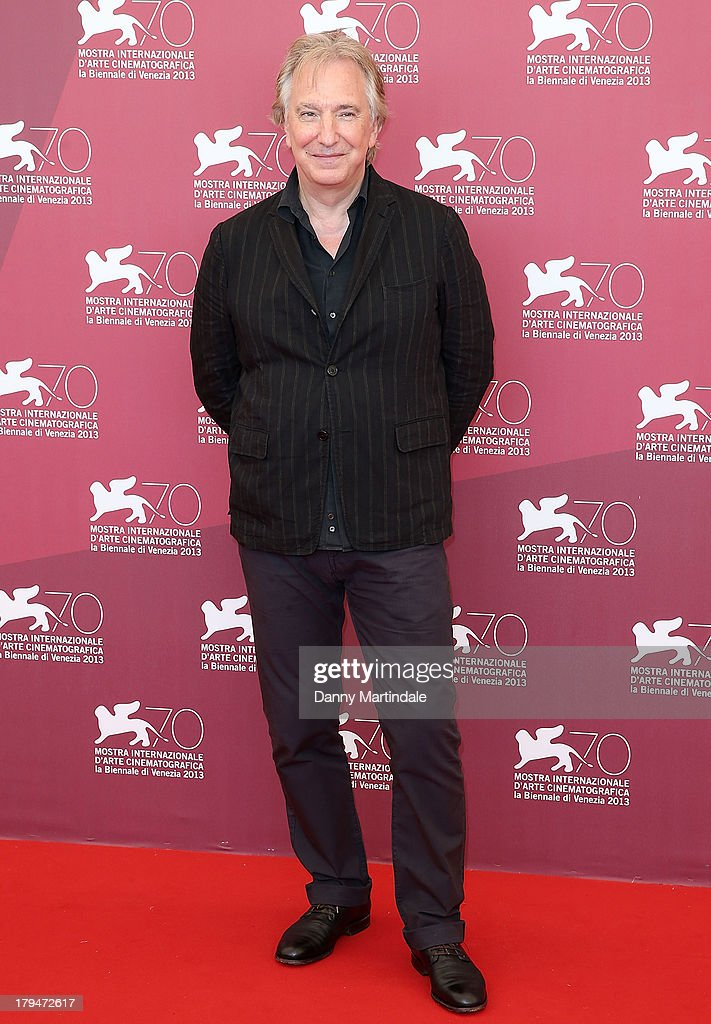 Actor <a gi-track='captionPersonalityLinkClicked' href=/galleries/search?phrase=Alan+Rickman&family=editorial&specificpeople=213254 ng-click='$event.stopPropagation()'>Alan Rickman</a> attends 'Une Promesse' Photocall during the 70th Venice International Film Festival at Palazzo del Casino on September 4, 2013 in Venice, Italy.