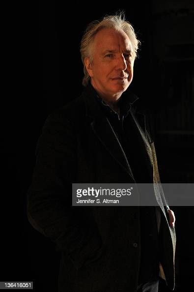 Actor Alan Rickman is photographed for Los Angeles Times at the Golden Theater on November 8 2011 in New York City