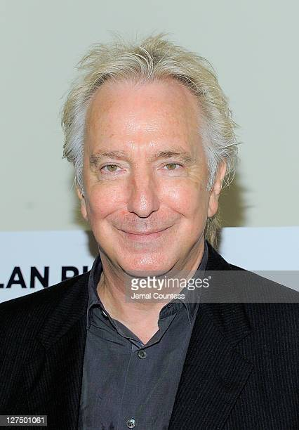Actor Alan Rickman poses for a photo during the 'Seminar' on Broadway cast photocall at Foxwoods Theatre Rehearsal Hall on September 28 2011 in New...