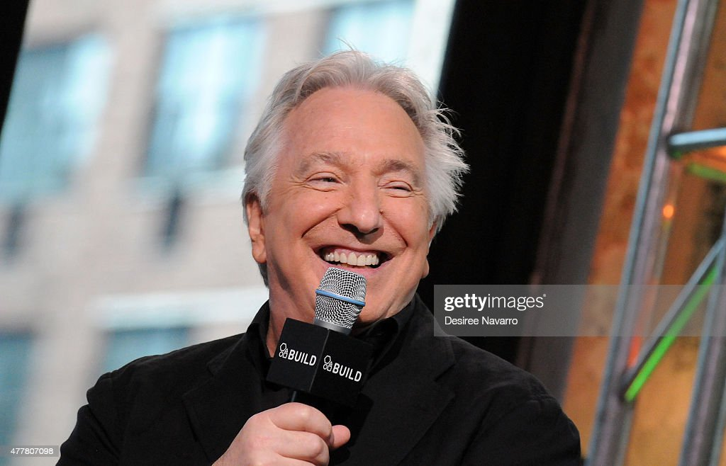 Actor Alan Rickman speaks about his film 'A Little Chaos' during AOL Build Speaker Series at AOL Studios In New York on June 19 2015 in New York City
