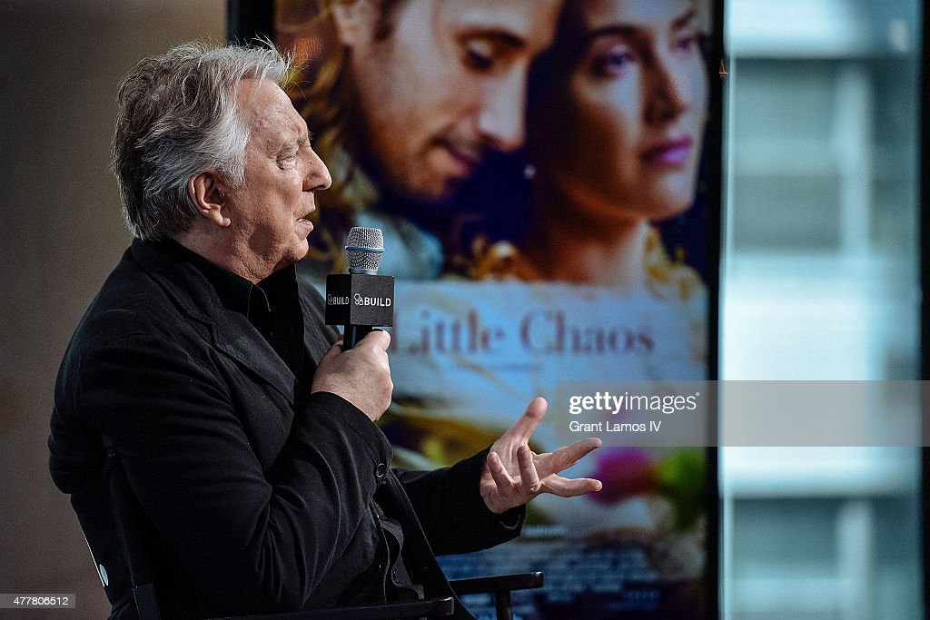 Actor Alan Rickman speaks at AOL Build Speaker Series at AOL Studios In New York on June 19, 2015 in New York City.