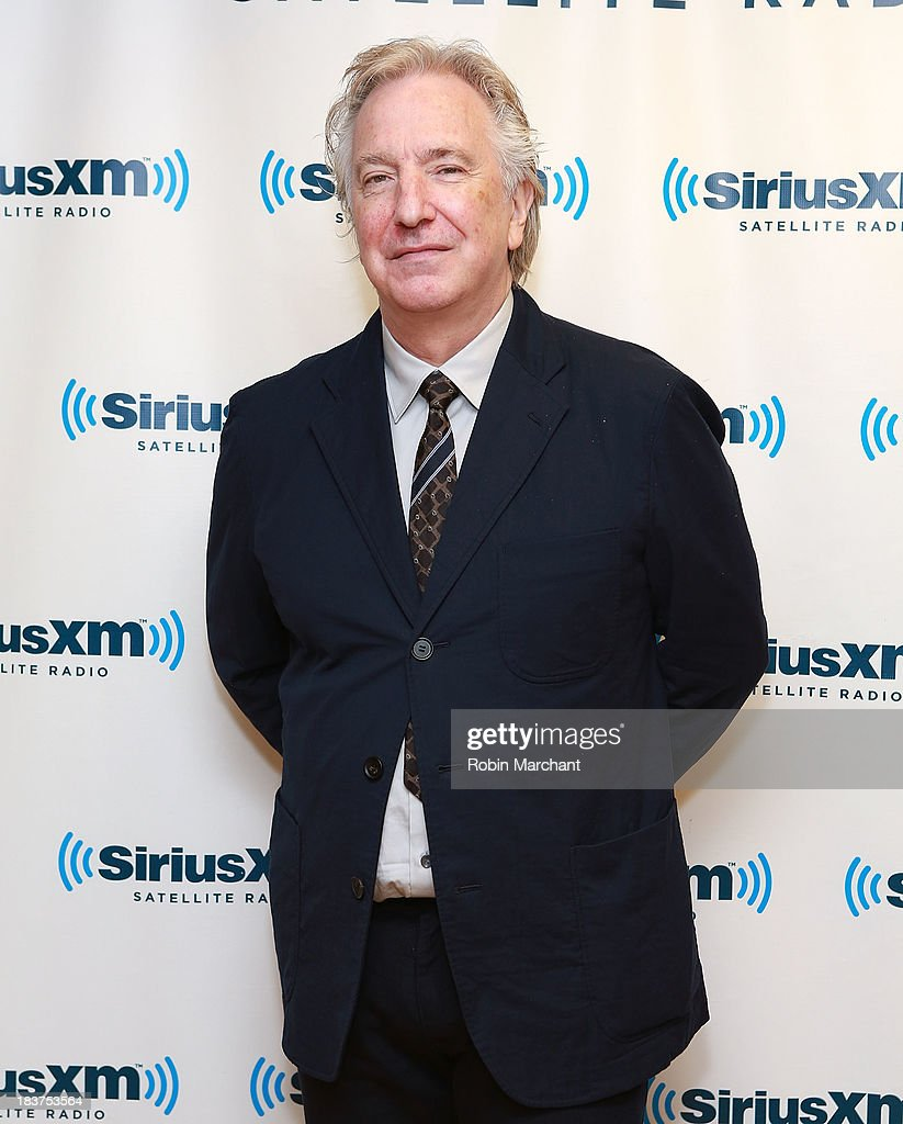 Actor <a gi-track='captionPersonalityLinkClicked' href=/galleries/search?phrase=Alan+Rickman&family=editorial&specificpeople=213254 ng-click='$event.stopPropagation()'>Alan Rickman</a> visits SiriusXM Studios on October 9, 2013 in New York City.
