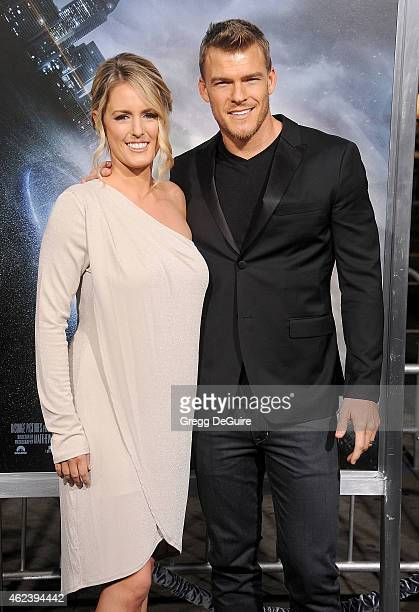 Actor Alan Ritchson and Catherine Ritchson arrive at the Los Angeles premiere of 'Project Almanac' at TCL Chinese Theatre on January 27 2015 in...
