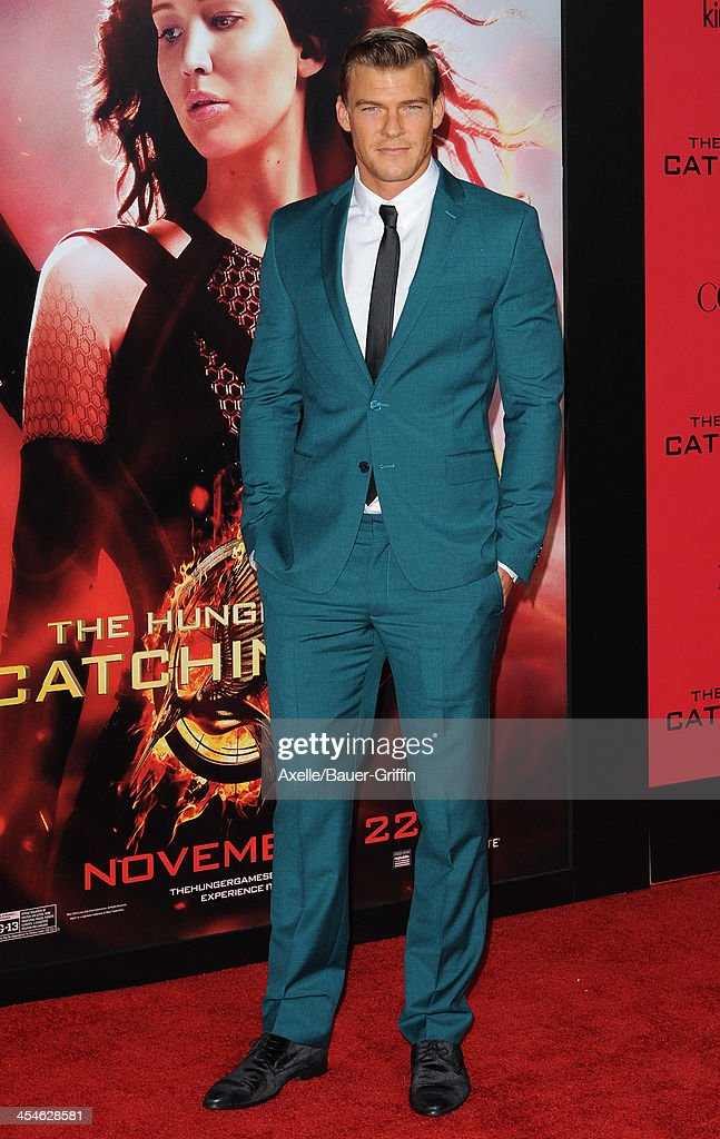 Actor Alan Ritchson arrives at the Los Angeles Premiere of 'The Hunger Games Catching Fire' at Nokia Theatre LA Live on November 18 2013 in Los...