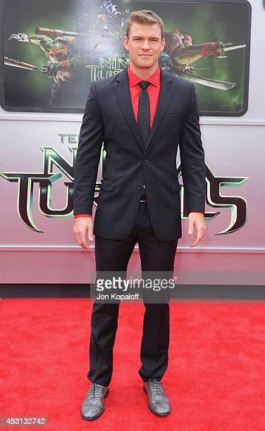 Actor Alan Ritchson arrives at the Los Angeles Premiere 'Teenage Mutant Ninja Turtles' at Regency Village Theatre on August 3 2014 in Westwood...