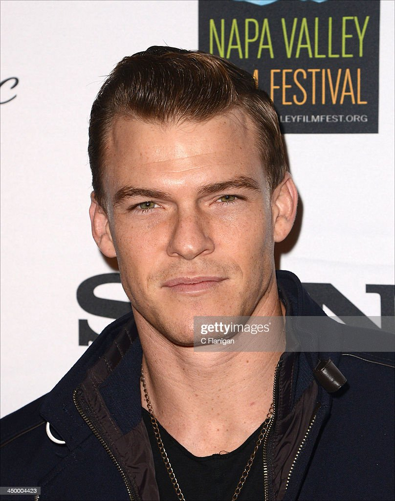 Actor <a gi-track='captionPersonalityLinkClicked' href=/galleries/search?phrase=Alan+Ritchson&family=editorial&specificpeople=4070667 ng-click='$event.stopPropagation()'>Alan Ritchson</a> arrives at the Napa Valley Film Festival Celebrity Tribute on November 15, 2013 in Napa, California.