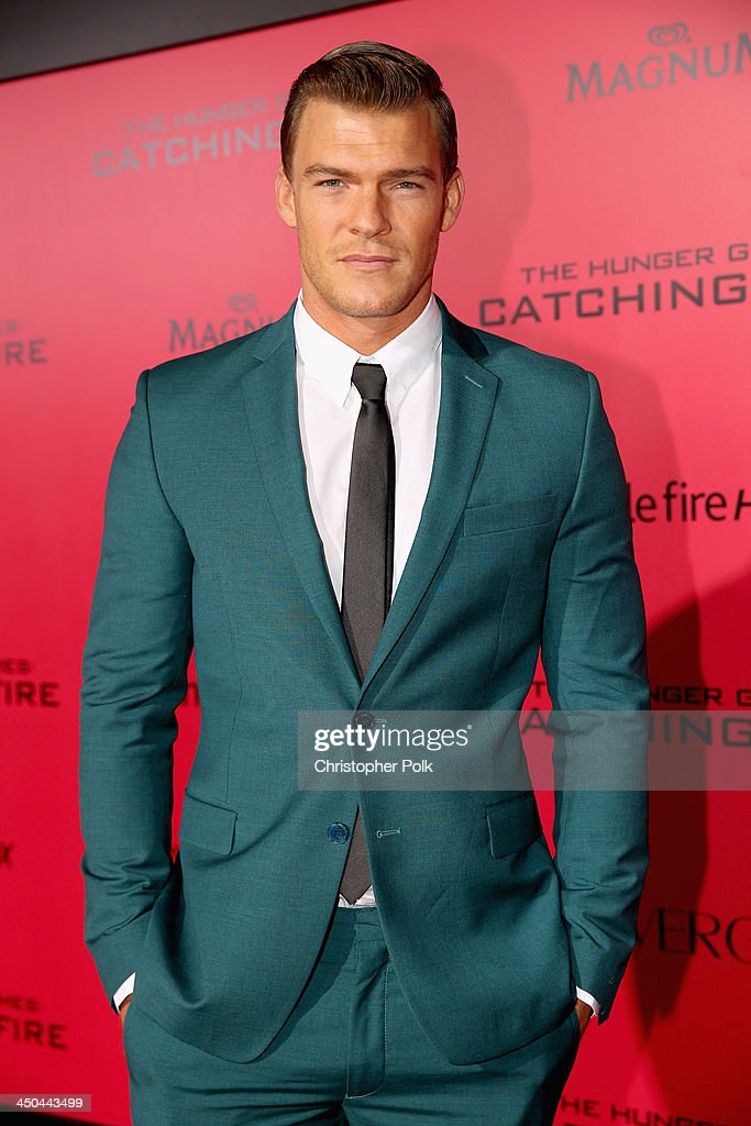 Actor Alan Ritchson attends premiere of Lionsgate's 'The Hunger Games Catching Fire' Red Carpet at Nokia Theatre LA Live on November 18 2013 in Los...