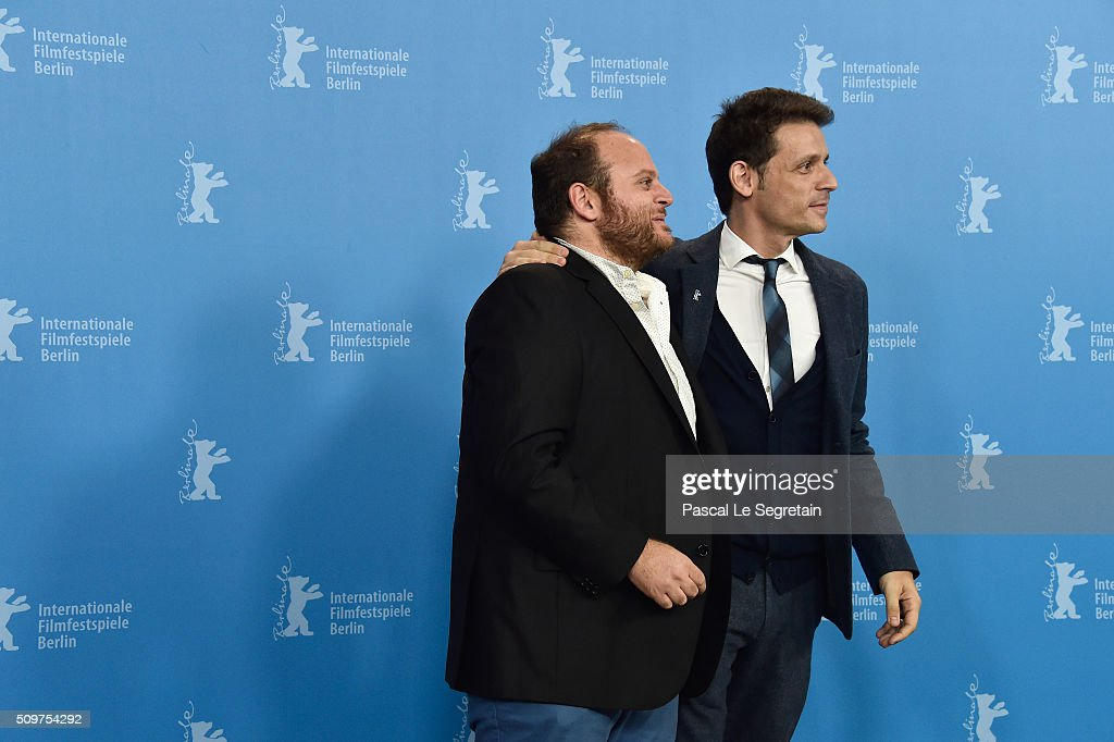 Actor Alan Sabbagh (L) and director Daniel Burman attend the 'The Tenth Man' photo call during the 66th Berlinale International Film Festival Berlin at Grand Hyatt Hotel on February 12, 2016 in Berlin, Germany.