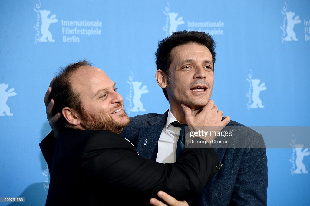 Actor Alan Sabbagh (L) and director <a gi-track='captionPersonalityLinkClicked' href=/galleries/search?phrase=Daniel+Burman&family=editorial&specificpeople=824373 ng-click='$event.stopPropagation()'>Daniel Burman</a> attend the 'The Tenth Man' photo call during the 66th Berlinale International Film Festival Berlin at Grand Hyatt Hotel on February 12, 2016 in Berlin, Germany.