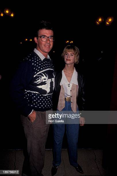 Actor Alan Thicke and actress Kristy Swanson attending 'Banff Celebrity Sports Invitational' on January 10 1991 in Banff Springs Canada