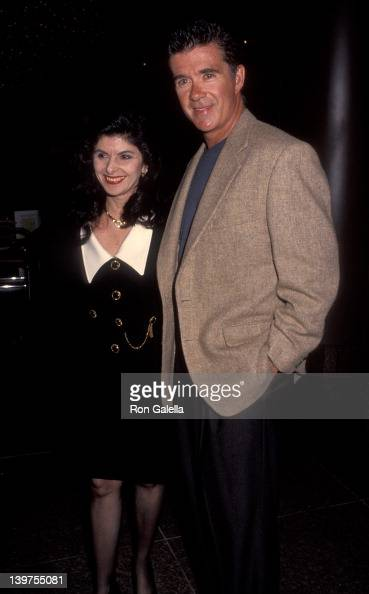 Actor Alan Thicke and date attending the premiere of 'Article 99' on February 4 1992 at the Director's Guild Theater in Hollywood California