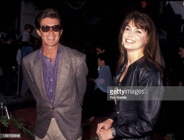 Actor Alan Thicke and date attending the premiere party for 'Robin Hood' on June 10 1991 at the Westwood Marquis in Westwood California