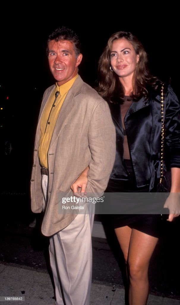 Actor Alan Thicke and date Gina Tolleson attending 'An Evening At the Net Benefit' on August 3 1992 at the Los Angeles Tennis Center in Los Angeles...