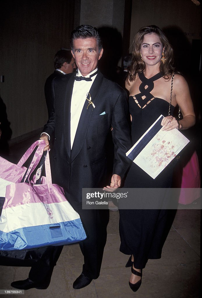 Actor Alan Thicke and date Gina Tolleson attending 'Carousel of Hope Ball Benefit' on October 2 1992 at the Beverly Hilton Hotel in Beverly Hills...