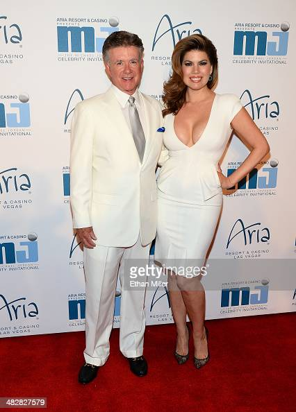 Actor Alan Thicke and his wife Tanya Callau arrive at the 13th annual Michael Jordan Celebrity Invitational gala at the ARIA Resort Casino at...