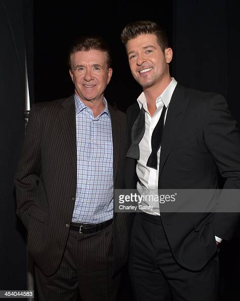 Actor Alan Thicke and recording artist Robin Thicke attend The GRAMMY Nominations Concert Live Countdown to Music's Biggest Night at Nokia Theatre LA...
