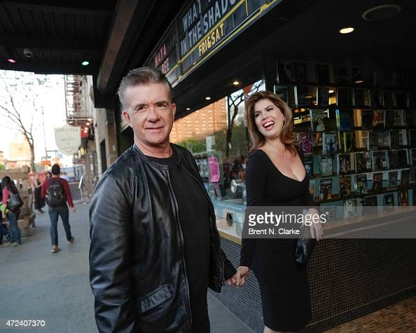 Actor Alan Thicke and Tanya Callau arrive for photographs with a fan during the New York Premiere of IFC Film's 'The D Train' hosted by The Cinema...