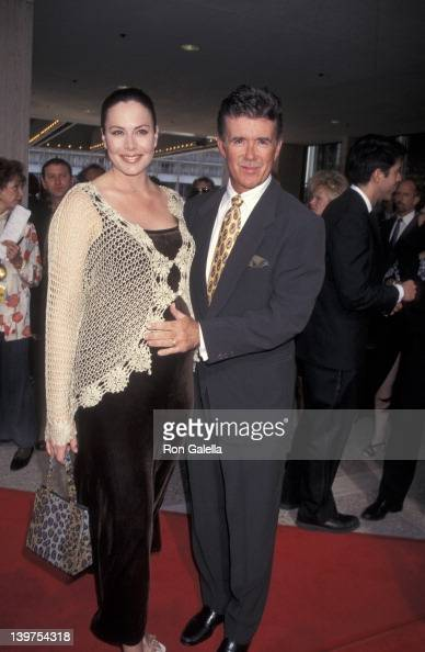 Actor Alan Thicke and wife Gina Tolleson attending the opening of 'Ragtime' on June 15 1997 at the Shubert Theater in Century City California