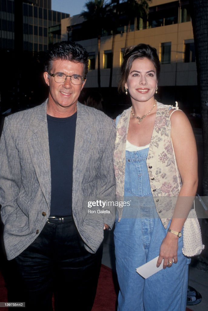 Actor Alan Thicke and wife Gina Tolleson attending the premiere of 'City Slickers IIThe Legend of Curly's Gold' on June 8 1994 at the Academy Theater...